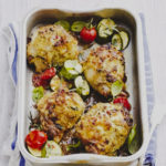 Chicken with Cream Cheese, Pesto, Vine Tomatoes & Breadcrumbs on Rachel Wells Food