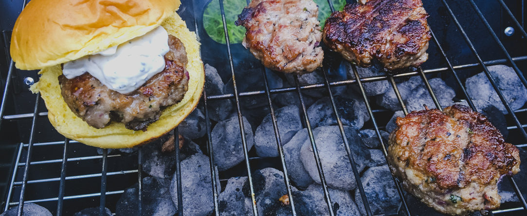 Camping Recipes: Lamb and Mint Burgers on Rachel Wells Food