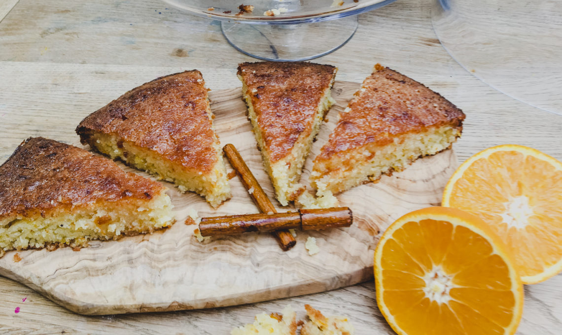 Gluten Free Tunisian Orange Cake on Rachel Wells Food
